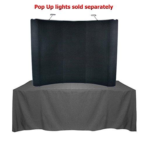 Tabletop Pop Up Display - 8' Wave Table Top Pop Up Panel Display (Hook & Loop)