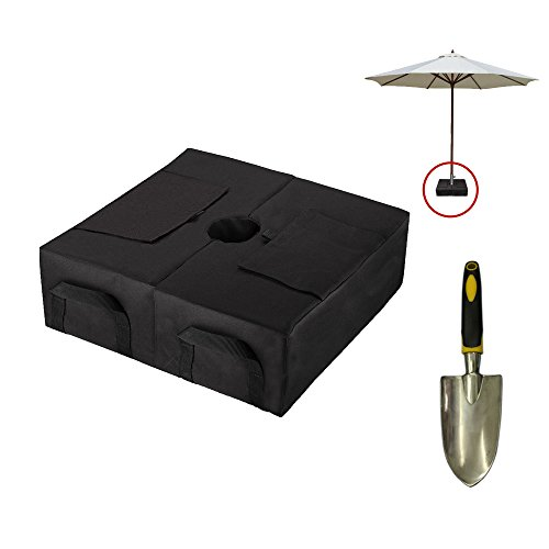 CELEISITE 2-piece Umbrella BASE WEIGHT BAGS, Waterproof Umbrella Stand Weights, 18'' Weight Bags with Shovel for any Offset, Cantilever or Outdoor Patio Umbrella, Easy to Set up by Celeisite