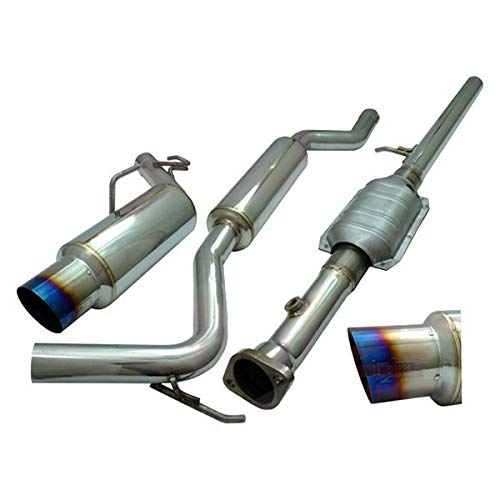 (Injen SES1835TT-1 60 mm Cat-Back Exhaust System with 4