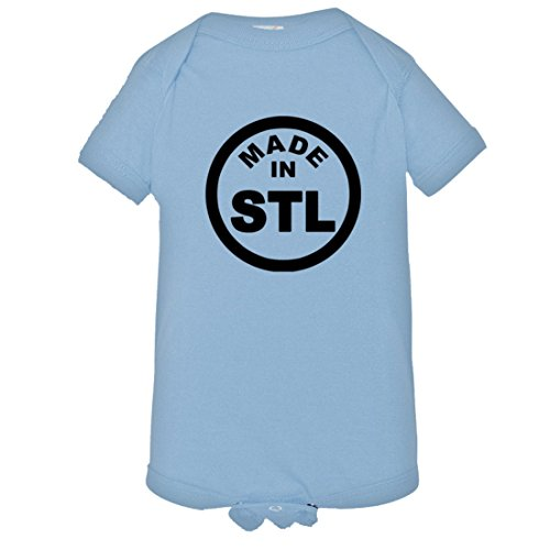 Baby Born Made in ST Louis MO Missouri Logo Label Onsie-LtBl-24M