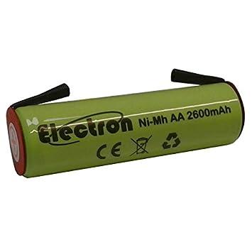 Pila recargable Ni-Mh AA 1,2 V 2600 mAh con pestañas de láminas terminales de soldar para paquetes de pilas: Amazon.es: Electrónica