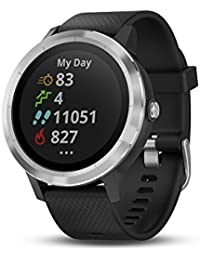 Vivoactive 3 GPS Smartwatch with Built-in Sports Apps - Black/Silver (Renewed)