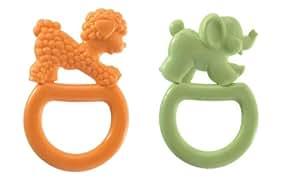 Vulli 2 Pack Vanilla Flavored Ring Teethe, Colors May Vary