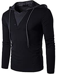 Men's Casual Slim Fit Pullover Hoodie T-Shirt