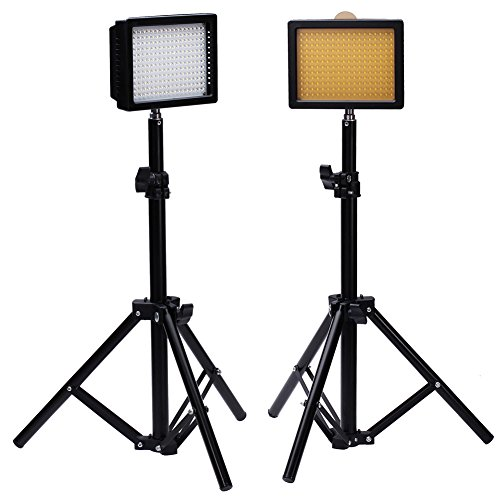 Bestlight® Photography 216 LED Studio Lighting Kit, including (2)W216 Dimmable Ultra High Power Panel Digital Camera DSLR Camcorder LED Video Light (2)32''/80cm Tall Photography Mini Light Stand by Bestlight