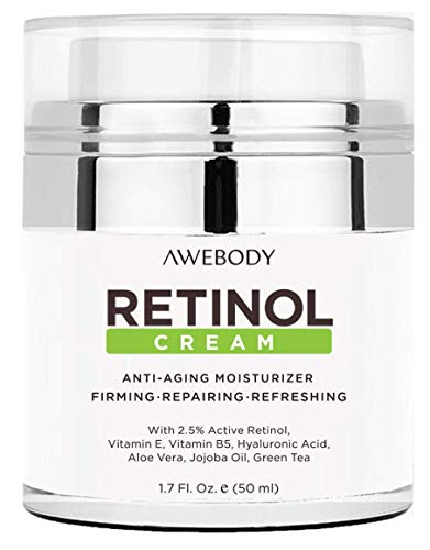 - Upgraded Awebody Retinol Face Cream, Miracle Moisturizing Face Cream, Anti Aging Formula Reduces Wrinkles, Fine Lines, Daily Face Moisturizer for Dry Skin, Best Retinol Face Cream for 2018