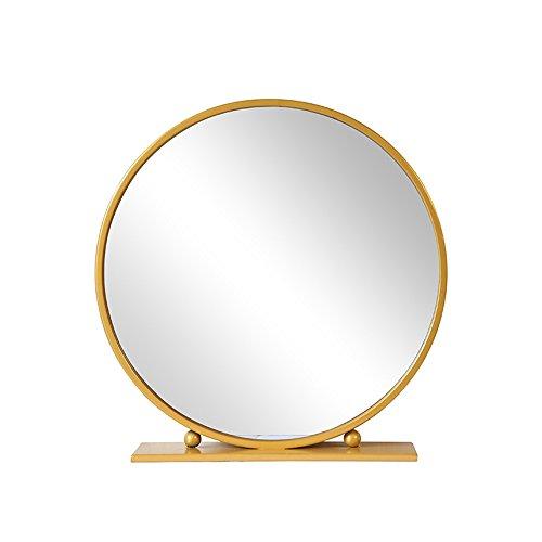 Mirror Desktop Round Bathroom Table Bedroom Oversized 40/50/60/70/80cm (Color : Gold, Size -