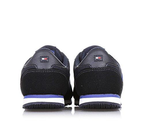 TOMMY HILFIGER - Schwarzer Schuh aus Stoff, unverkennbares Design, mit Klettverschlüssen, Jungen