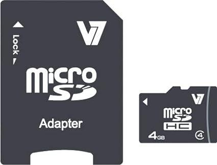 V7 Micro Sdhc Karte 4gb Class 4 Sd Adapter Micro Computer Zubehör