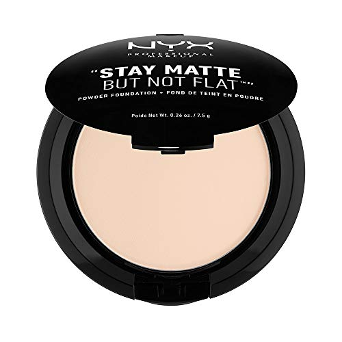 NYX PROFESSIONAL MAKEUP Stay Matte but not Flat Powder Foundation, Alabaster, 0.26 Ounce