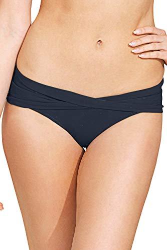 Robin Piccone Women's Ava Twisted Sash Hipster Bikini Bottom Navy XS
