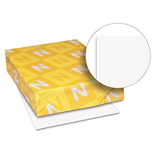 Neenah Paper 80211 Exact Vellum Bristol Cover Stock, 67lb, 94 Bright, 8 1/2 x 11, White, 250 Sheets