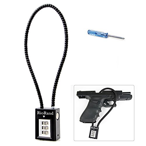 Trigger lock 3 Digit Combination 15 Inch Gun Cable Lock Pack 5 Pack 3 Pack 1 Fits Pistols Hand Gun Rifles Bb Gun Shotguns