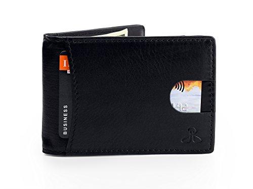 RFID Leather Wallets for Men - Bifold Slim Mens Wallet money clip card holder