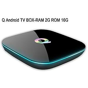 nansii Android TV Box Q Box Amlogic S905 Android 5.1 HD Quad-core A53 [2GB/16GB/4K] 3D 2.4G+5G WiFi 1080P-smart tv box