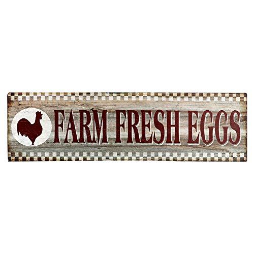Barnyard Designs Farm Fresh Eggs Retro Vintage Tin Bar Sign Country Home Decor 15.75
