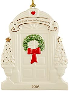 Amazon.com: Lenox 2016 Our First Year in Our New Home Ornament ...