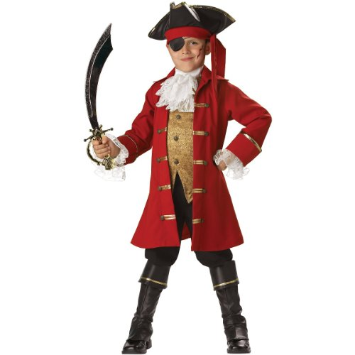 NEW Kids Pirate Captain Hook Boys Halloween Costume 6 Boys Medium (fits size 6) -