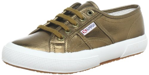 Womens Superga 2750 Cotmetu Lace-up Lage Top Casual Metallic Sneakers Brons