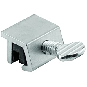 Prime-Line Products U 10551 Sliding Window Lock, 1/8 in., Extruded Aluminum, Mill Finish, No Mar (Pack of 2)