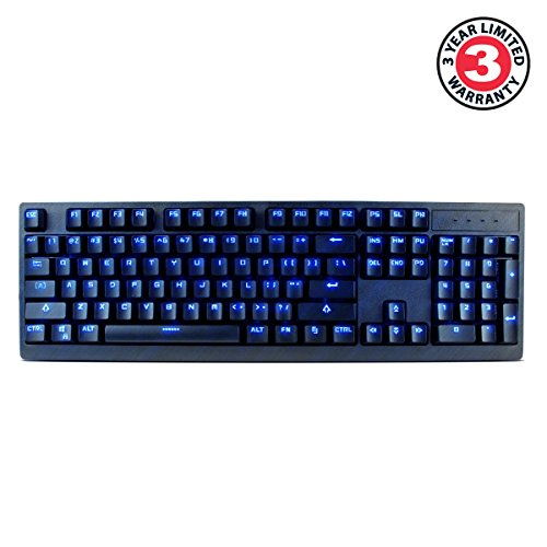 ENHANCE GX-K5 FPS Mechanical Gaming Keyboard with Blue LED Backlighting & TTC Brown Tactile Switches – Great for Counter-Strike: Global Offensive , Overwatch , Call of Duty: Black Ops III & More Games by ENHANCE (Image #1)'