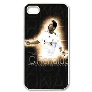 Unique Design -ZE-MIN PHONE CASE For Iphone 4 4S case cover -Cristiano Ronaldo Wallpaper Design Pattern 12