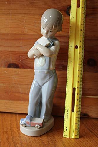RETIRED LLADRO Mechanic Boy Hammer Truck Dice Figurine #4897 Spain Glossy