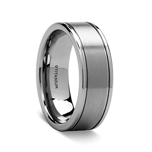 Thorsten Fairfield | Tungsten Rings for Men | Tungsten | Comfort Fit | Titanium Wedding Ring Band with Flat Satin Finish - 8mm (15)