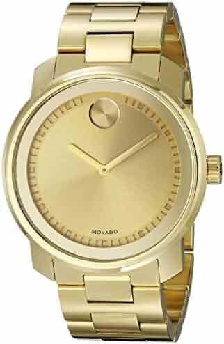 Movado Men's 3600258 Bold Analog-Display Swiss Quartz Gold-Tone Watch
