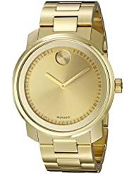 Movado Mens 3600258 Bold Analog-Display Swiss Quartz Gold-Tone Watch