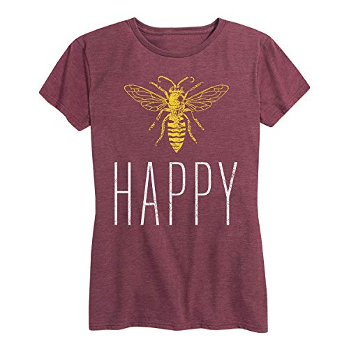 Bee Happy - Ladies Short Sleeve Classic Fit ()