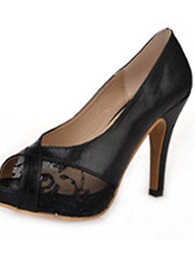 ZQ Zapatos de mujer-Tac¨®n Stiletto-Tacones-Tacones-Casual-PU-Negro / Oro , golden-us8 / eu39 / uk6 / cn39 , golden-us8 / eu39 / uk6 / cn39 golden-us6.5-7 / eu37 / uk4.5-5 / cn37