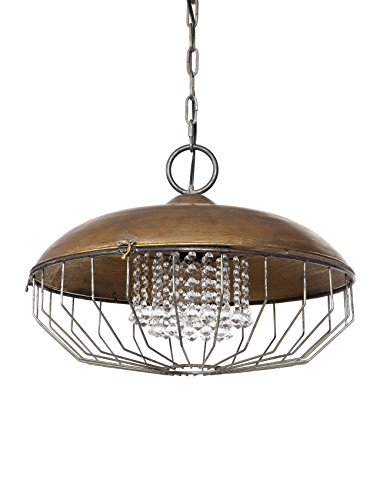Creative Co-Op DA6096 Urban Homestead Metal Chandelier with Glass Crystals by Creative Co-op