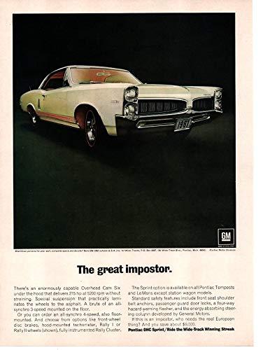 (Magazine Print Ad: 1967 Pontiac Tempest Lemans OHC 6 Sprint Wide-Track,