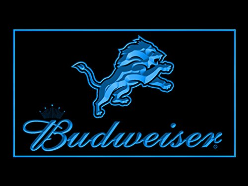 Budweiser Detroit Lions Football Led Light Sign Detroit Lions Light