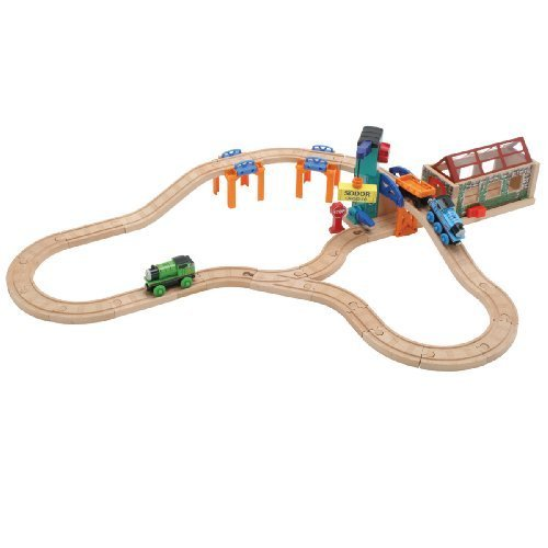 (Thomas And Friends Wooden Railway - Transfer Yard Set by Learning Curve)