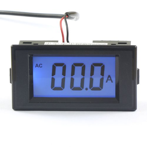 AC Current Meter Panel, DROK Digital Electrical Ammeter Gauge AC 0-100A Amperage Panel Meter LCD Display Ampere Monitor Tester Amp Reader Case ()