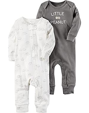 Baby 2-Pack Elephant Coveralls