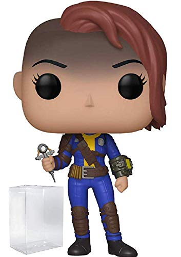 Funko Pop! Games: Fallout - Vault Dweller Female Vinyl Figure (Includes Pop Box Protector Case)