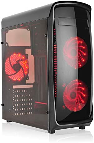 L-link KAZUMI - Caja ATX con 4 Ventiladores y Ventana, Color Negro ...