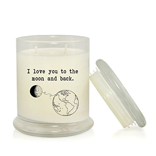 I Love You to the Moon and Back 8.5 oz. Candle - Caribbean Teakwood Scent by Culture By Candlelight (Image #3)
