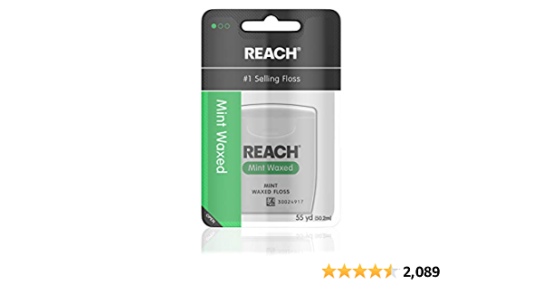 Reach Waxed Dental Floss, Mint, 55 Yards