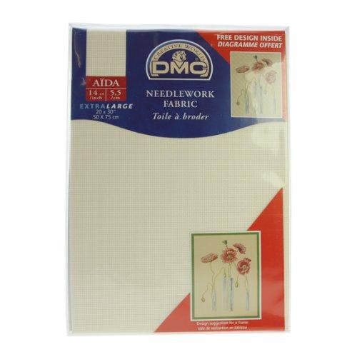 14 Count Aida Fabric 20x30 Inches (50x75cm) - Ecru - DC28/10 DMC DC28/10 ECRU