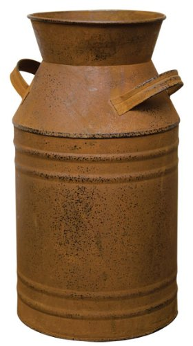 Old Fashioned Rusty Tin Dairy Milk Can Country Primitive Kitchen Farm Décor
