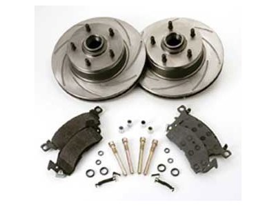 SSBC A2350012 Short Stop Slotted Front Rotor Upgrade Kit for '60-70s GM A/F-Body (Slotted Ssbc Rotors Turbo)