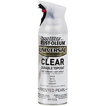 Rust-Oleum 302155 Universal All Surface Spray Paint 11 Oz, Frosted Clear Pearl
