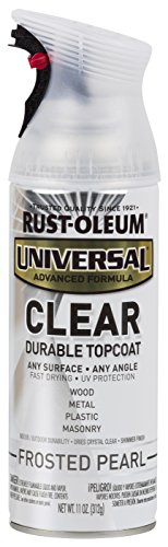 Rust-Oleum 302155 Universal All Surface Spray Paint, 11 oz, Frosted Clear Pearl
