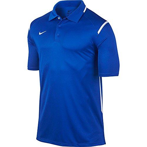 Mens Game Day Polo (New Nike Men's Team Gameday Polo Shirt TM Royal/TM White/TM White)