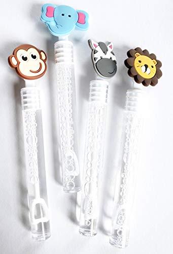 Safari Animals Bubbles Party Favors, Celebrations Birthday Supplies Girls Boys Gift Kids Clear Mini Bottle Wands Non Toxic Lion Monkey Elephant Zebra]()