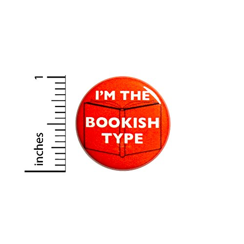 Funny Introvert Button Backpack Pin I'm The Bookish Type Books Gift 1